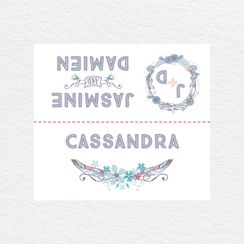 Boho Flourish Placecard