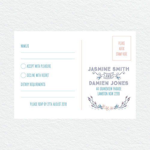Boho Flourish RSVP Card