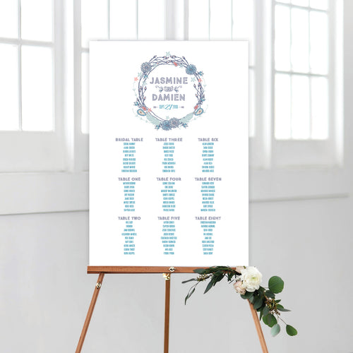 Boho Flourish Seating Chart