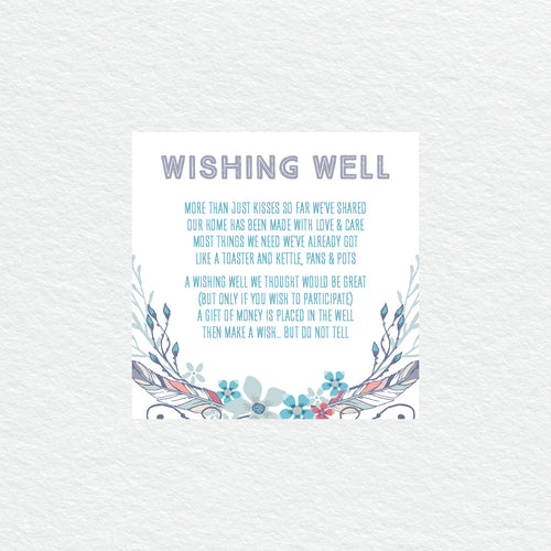 Boho Flourish Wishing Well Card