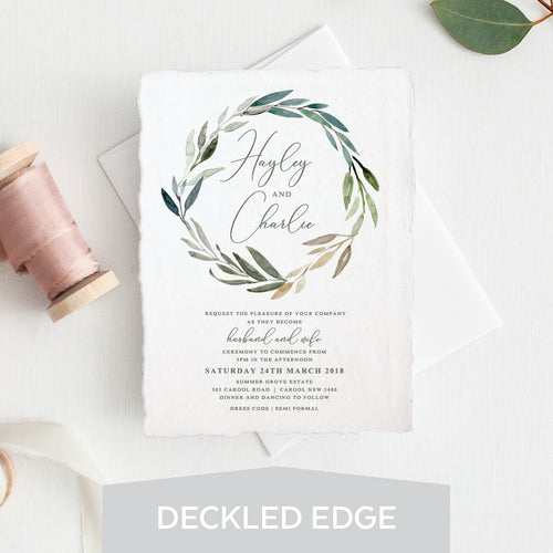 Botanical Bliss Deckled Edge Invitation