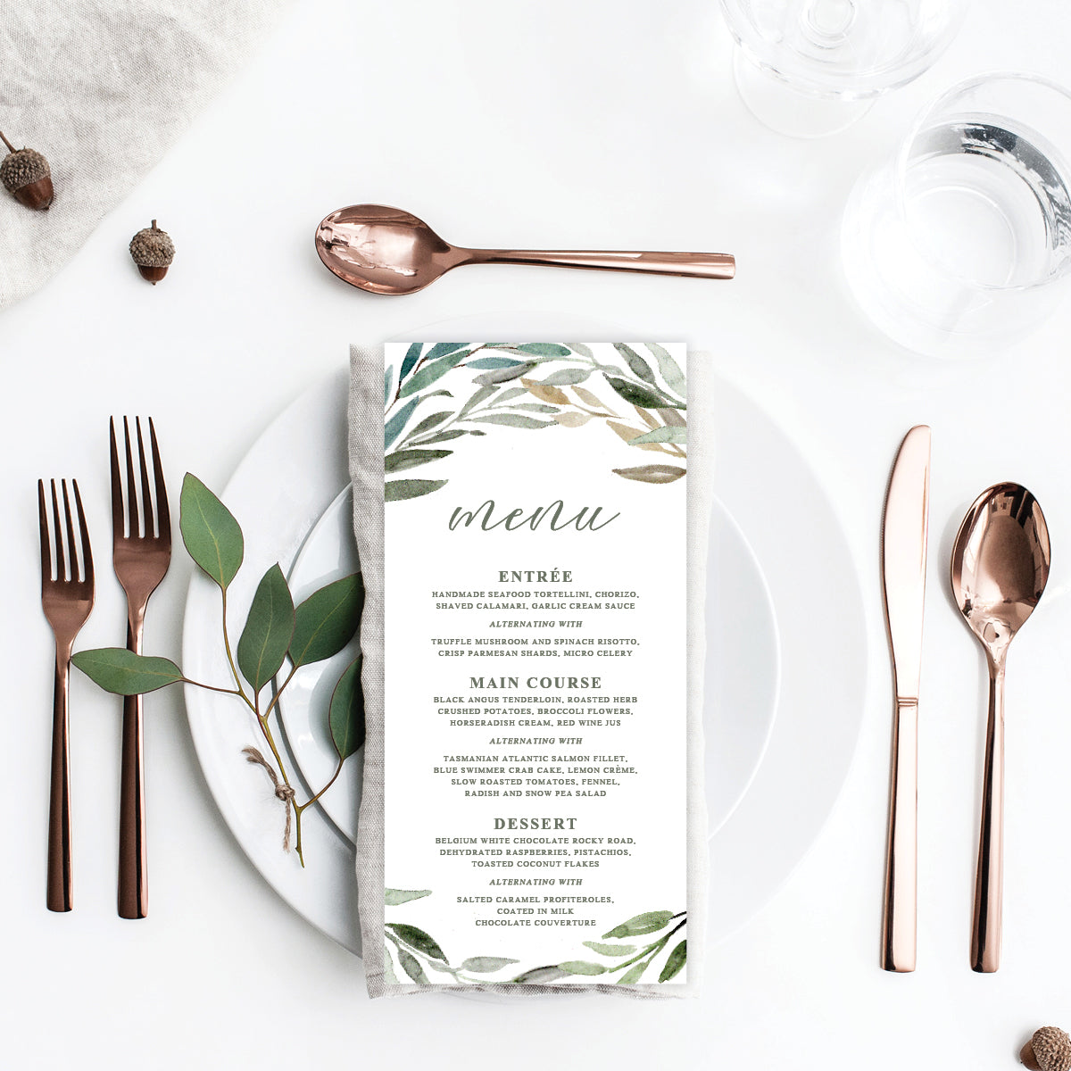 Botanical Bliss Menu