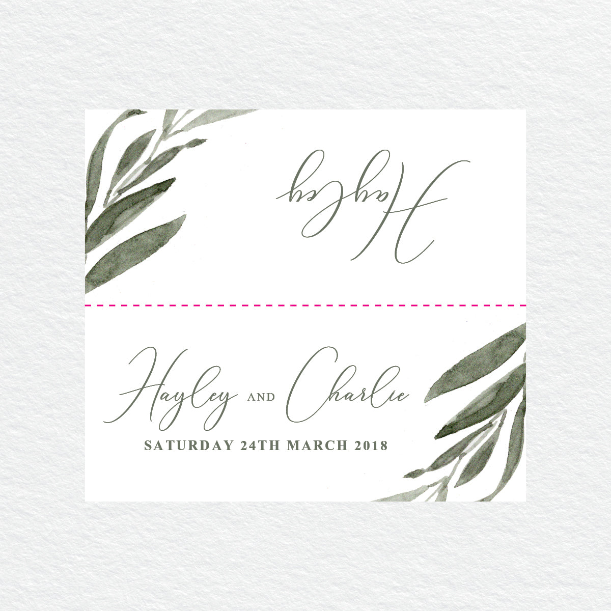 Botanical Bliss Placecard