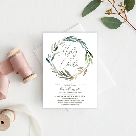 Fresh Type Square Invitation