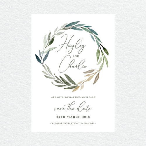 Botanical Bliss Save the Date Card