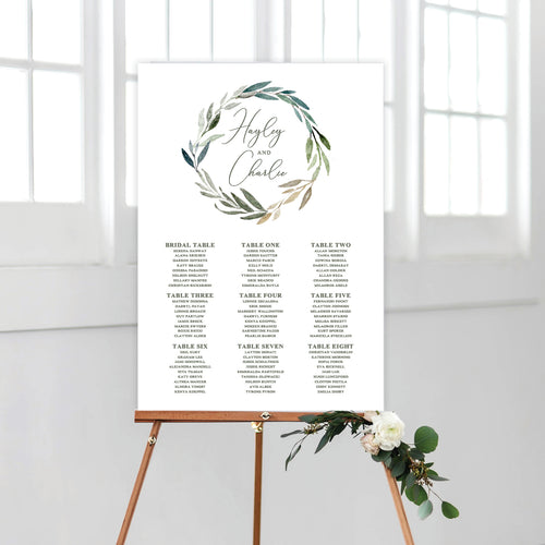 Botanical Bliss Seating Chart