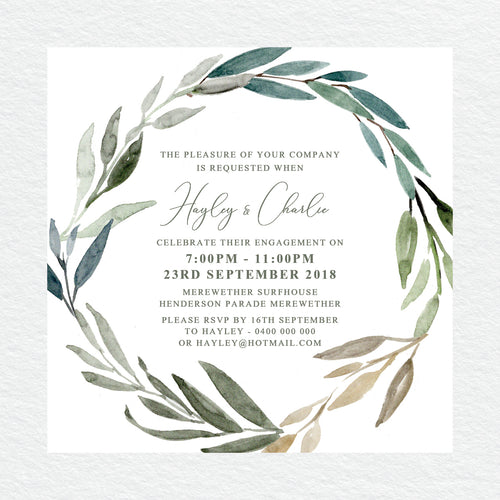 Botanical Bliss Engagement Invitation