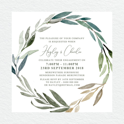 Autumn Vibes Engagement Invitation