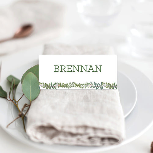 Botanical Wreath Placecard