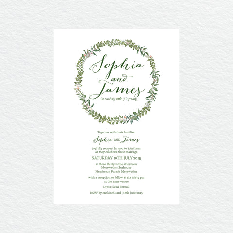 In Bloom (White) Square Invitation