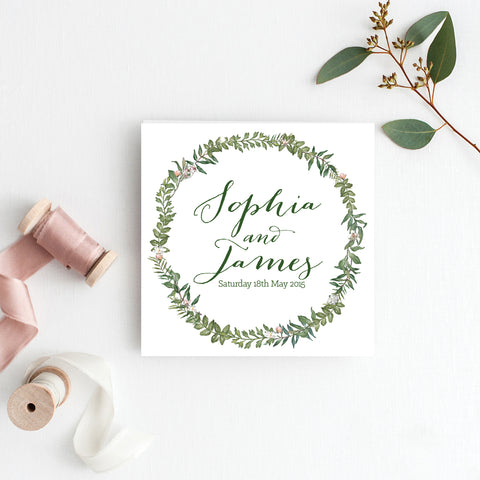 Botanical Bliss Square Invitation
