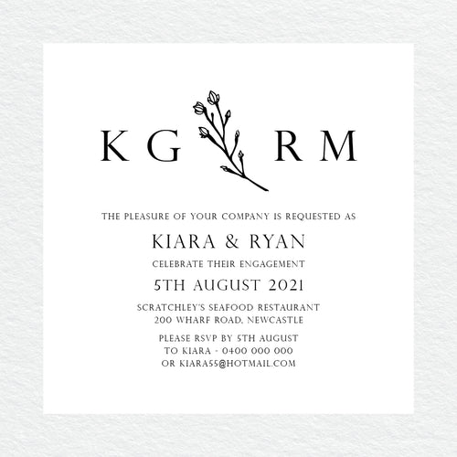 Branch of Love Engagement Invitation