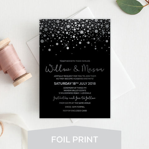 Kraft Party Foil Invitation