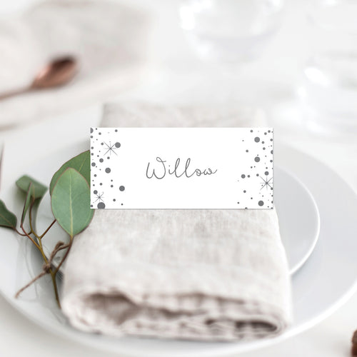 Confetti Party Placecard