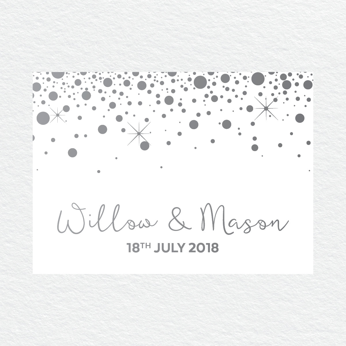Confetti Party RSVP Card