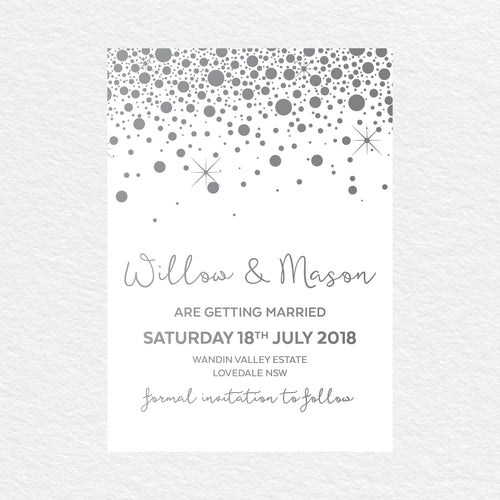 Confetti Party Save the Date Card