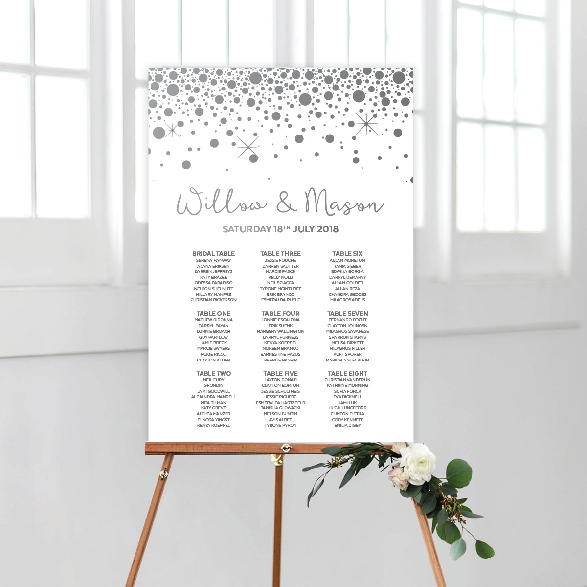 Confetti Party Seating Chart