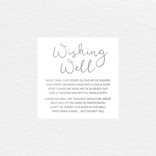 Confetti Party Wishing Well Card