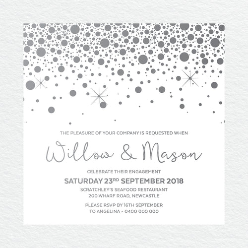 Confetti Party Engagement Invitation
