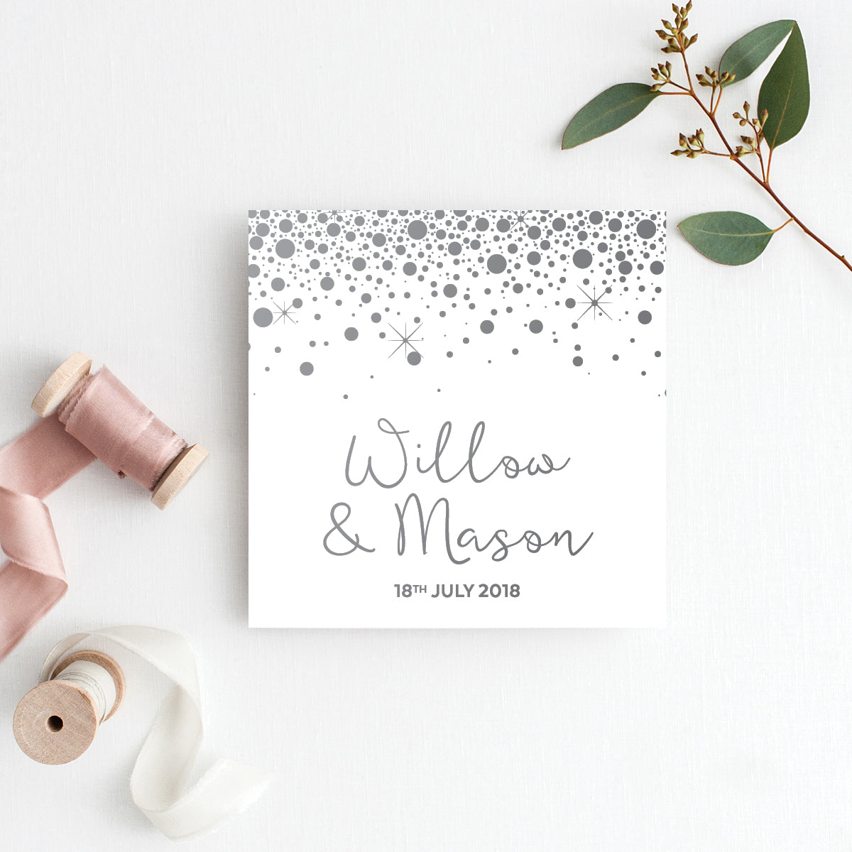 Confetti Party Square Invitation