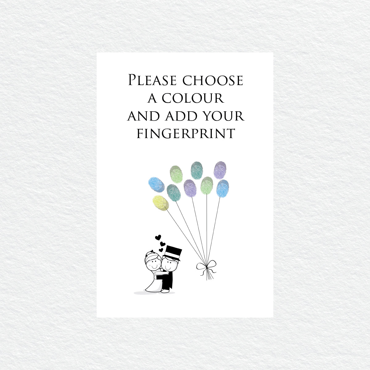 Cute Couple Balloon Fingerprint Kit
