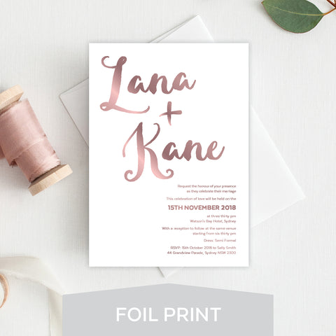 Tropicana Foil Invitation