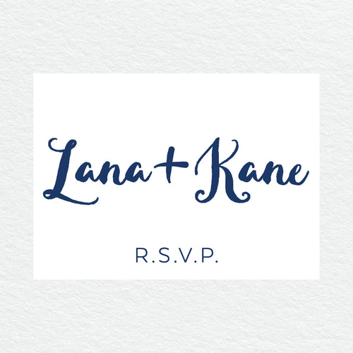 Deep Blue RSVP Card