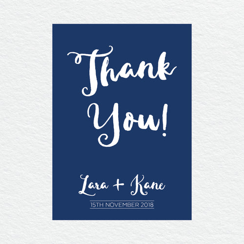 Deep Blue Thankyou Cards