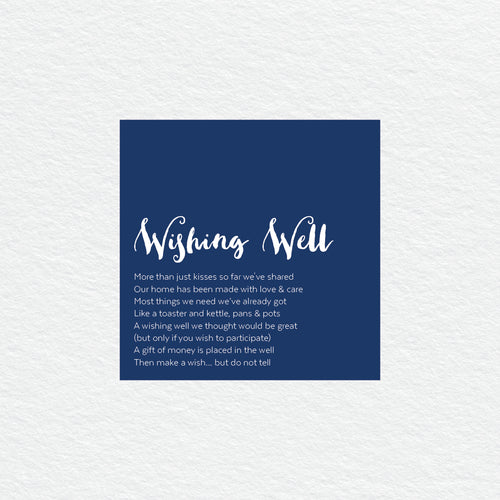 Deep Blue Wishing Well Card