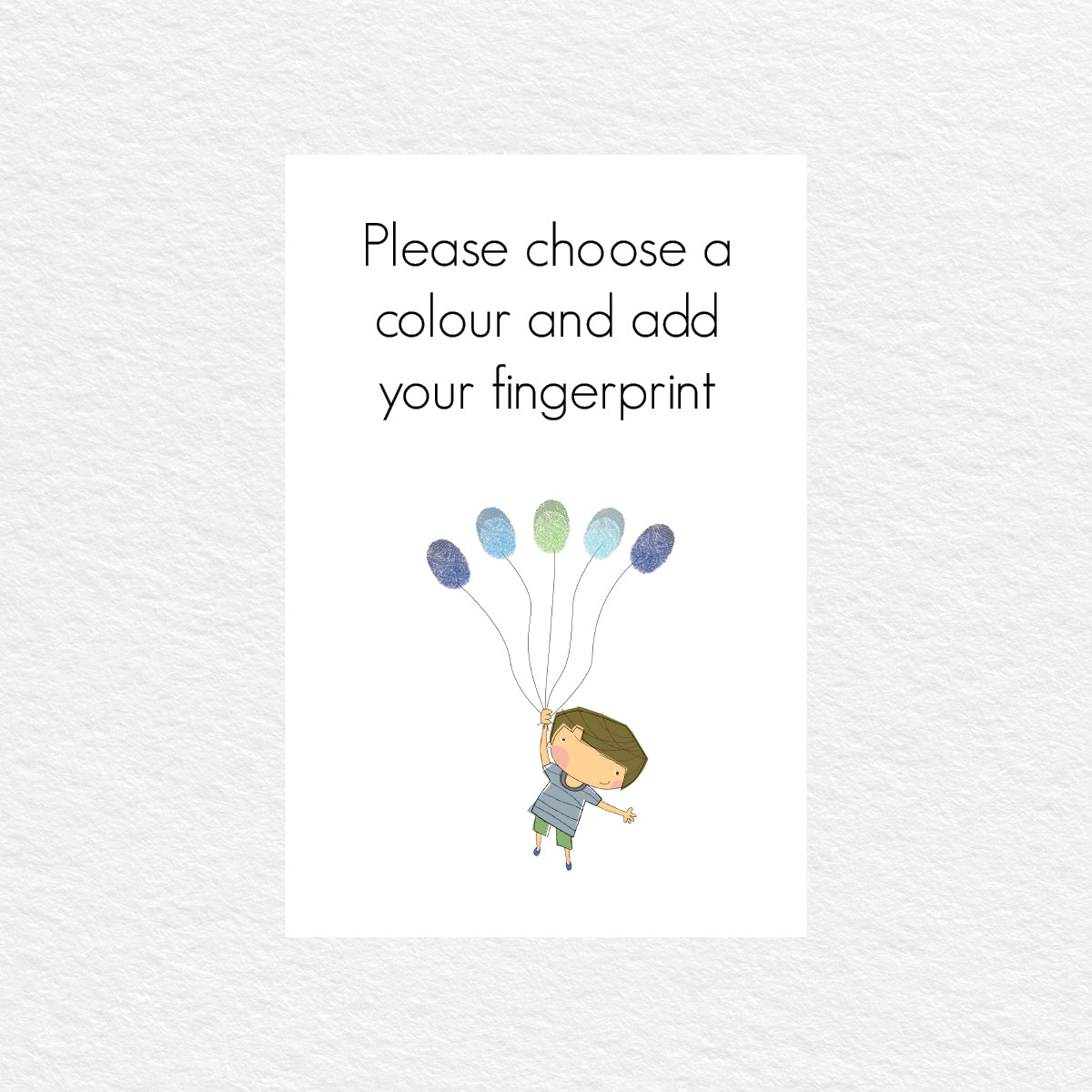 Flying Boy Balloon Fingerprint Kit