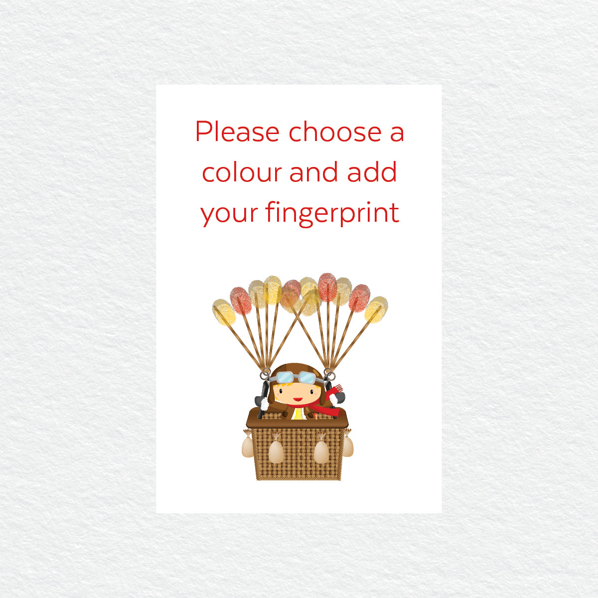 Hot Air Balloon Fingerprint Kit