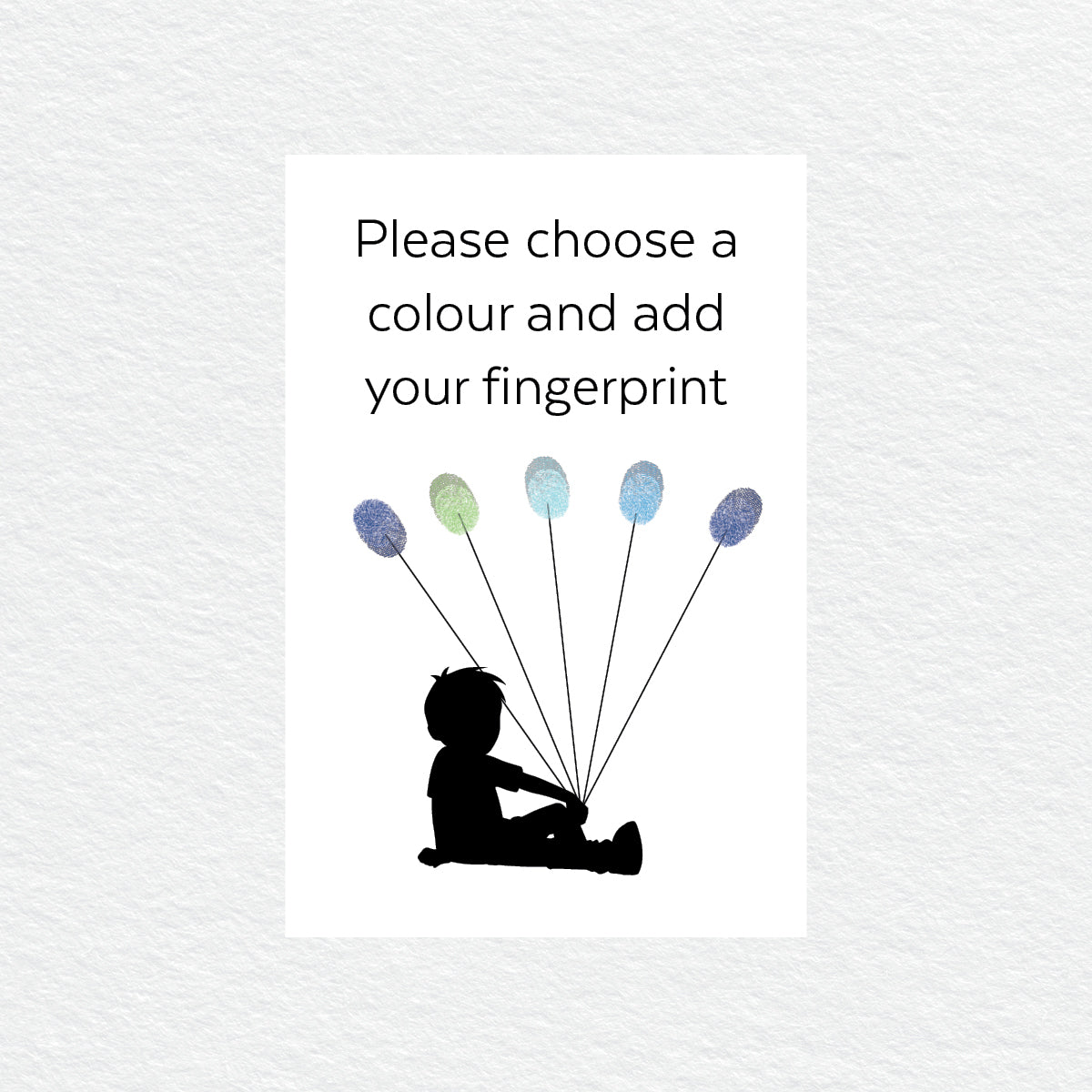 Sitting Boy Balloon Fingerprint Kit
