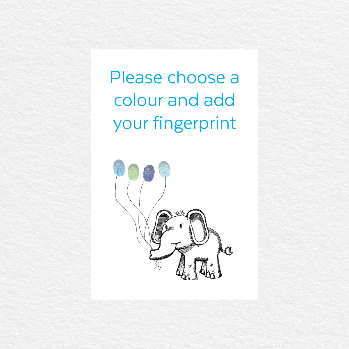 Elephant Balloon Fingerprint Kit