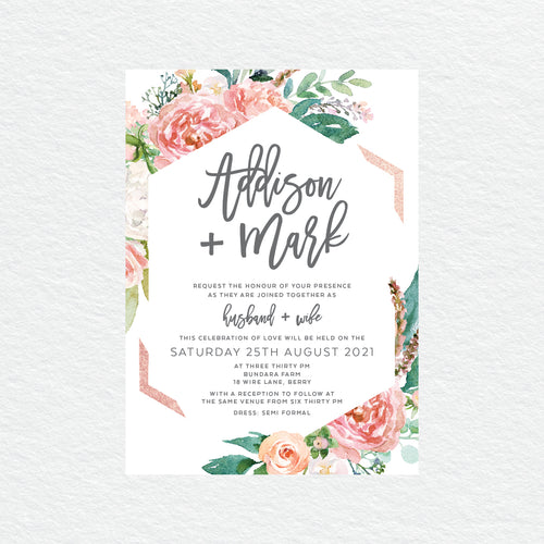 Floral Sweetness Rectangle Invitation