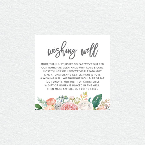 Floral Sweetness Wishing Well Card