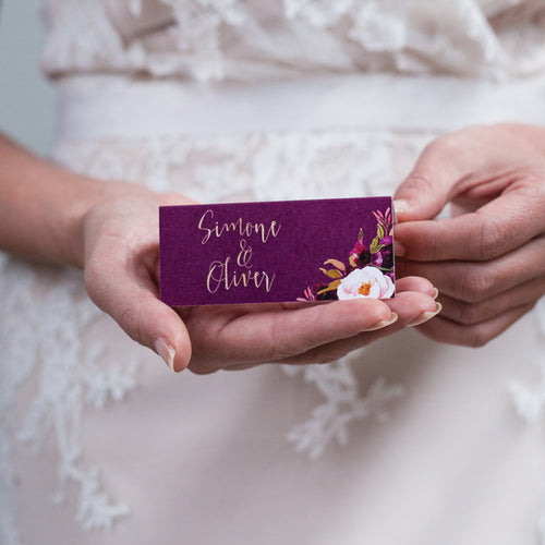 Floral Marsala Placecard