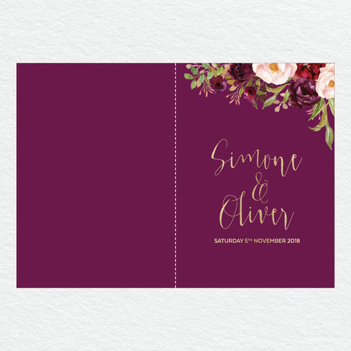Floral Marsala Service Covers