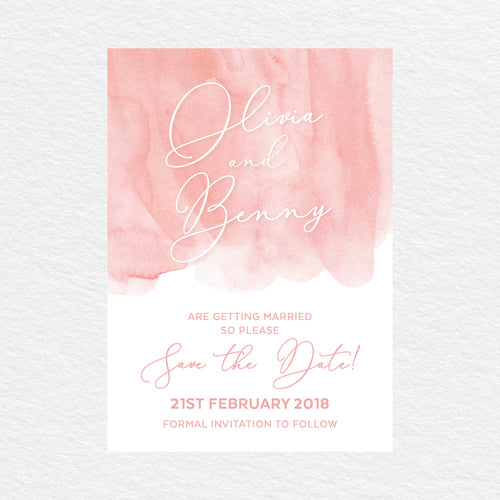 Flow Save the Date Card
