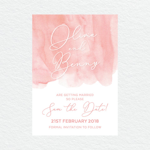 Deep Blue Save the Date Card