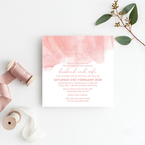 Flow Square Invitation