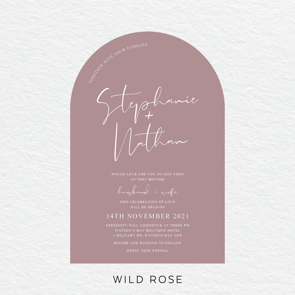 Forever in Love Arch Invitation