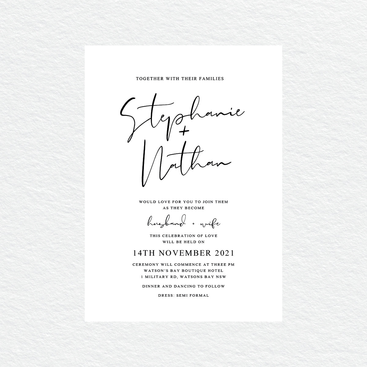Forever in Love Rectangle Invitation