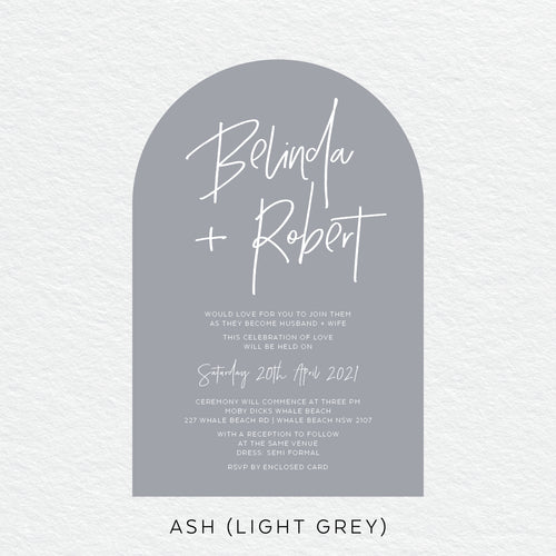 Fresh Type Arch Invitation