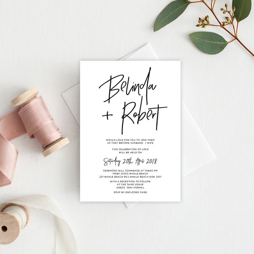 Fresh Type Rectangle Invitation