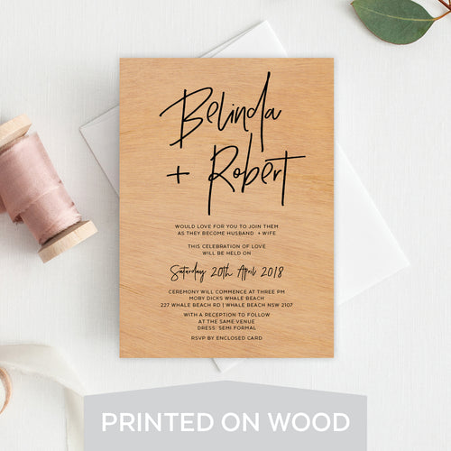 Fresh Type Wood Invitation