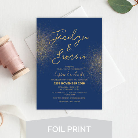 Botanical Bliss Foil Invitation