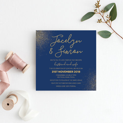 Glitter Bomb Square Invitation
