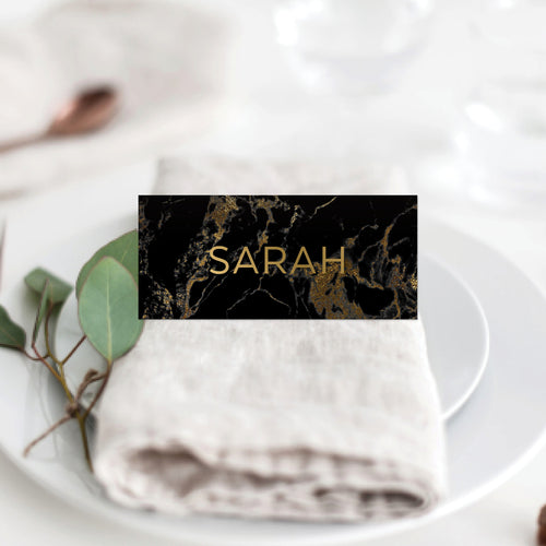 Gold Marble Placecard