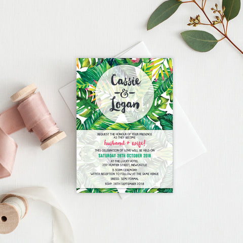 In Bloom (White) Rectangle Invitation