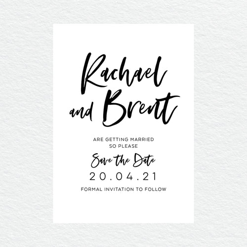 I Do Save the Date Card